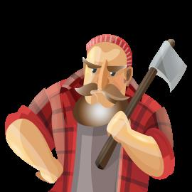 Deeke's Seasoned Firewood & Mulch Lumberjack