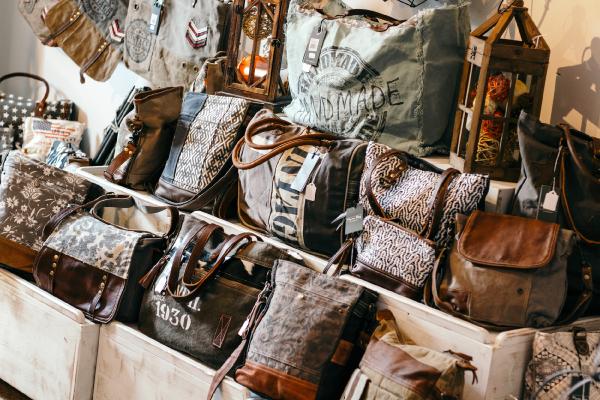 Display of Handbags